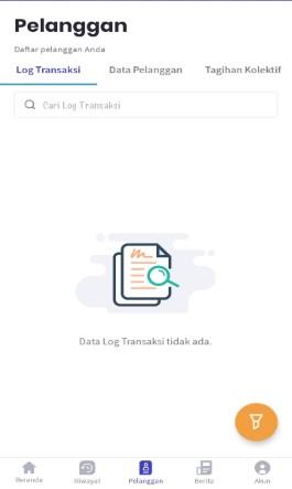 Tampilan Menu Daftar Pelanggan & Kolektif di Aplikasi KiosonPulsa.com