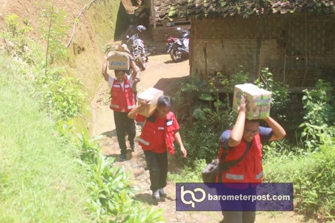 Pendistribusian  Sembako PMI,Korban Bencana Longsor Dusun Mojan Kelurahan Bintoro Kecamatan Patrang