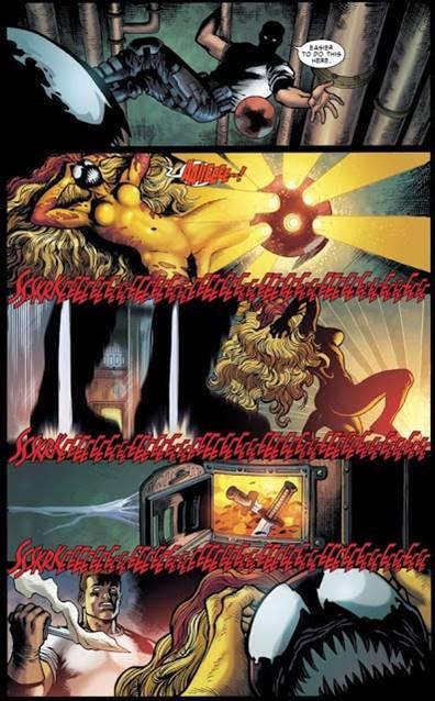 Eddie Brock asesinando a Grito, el simbionte de Marvel