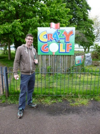 Crazy Golf at the Strand Leisure Park in Gillingham