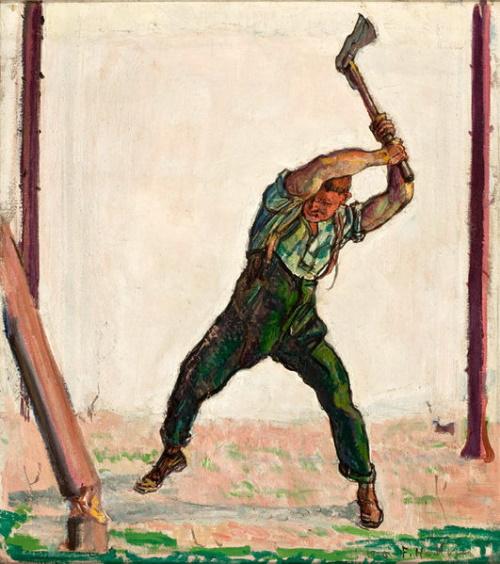 O Lenhador, pintura de Ferdinand Hodler #PraCegoVer