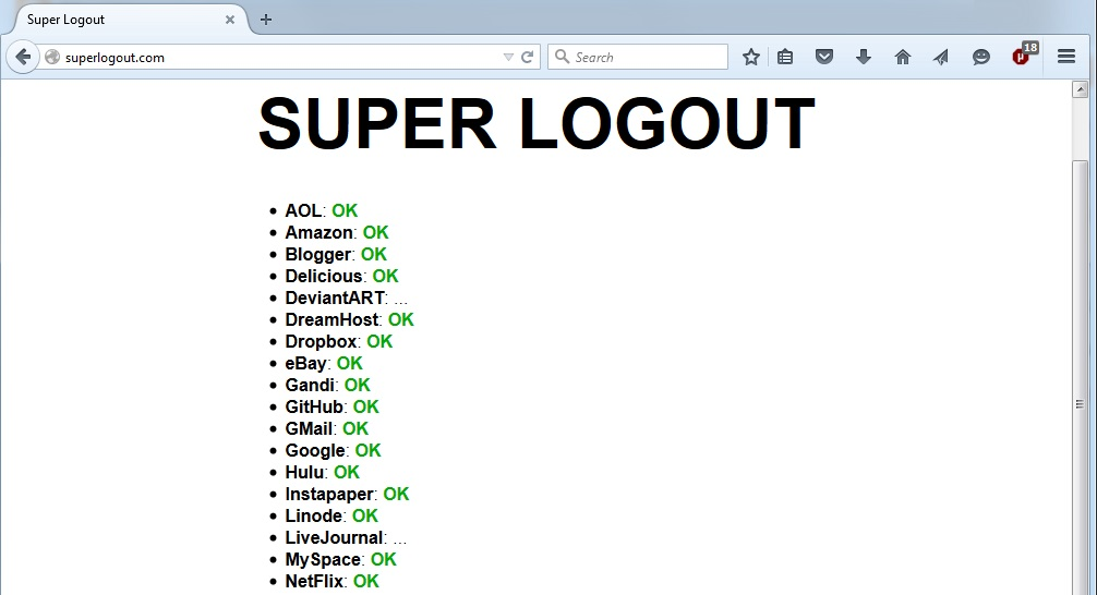 Internet S Best Secrets Super Logout Logs You Out Of Most Of The Internet