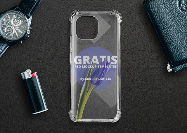 Mockup Case Anticrack Xiaomi Mi 11 Transparan