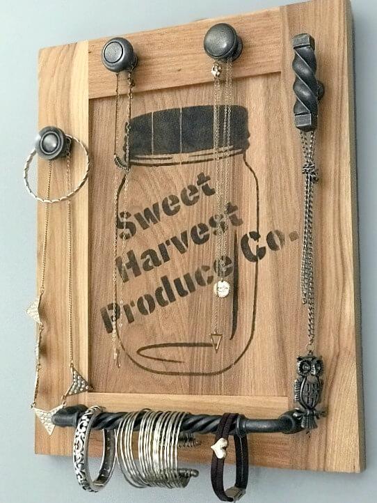 Repurposed Jewelry Organizer