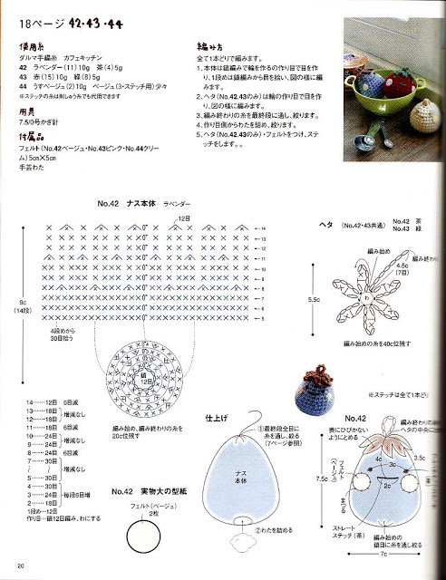 modèle de miniatures au crochet