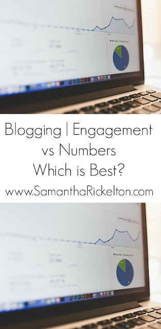 Blogging | Engagement vs Numbers. Which is Best? By SamanthaRickelton.com