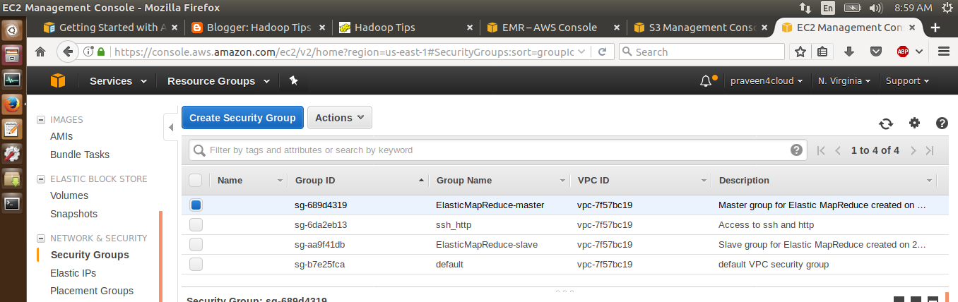 Big Data and Cloud Tips: EMR logging into the master instance
