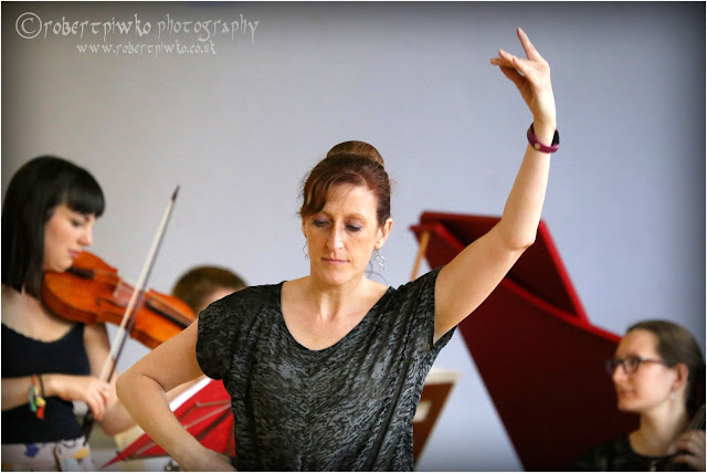 The Pheasant's Eye in rehearsal - Kathleen Gilbert & Ensemble Hesperi