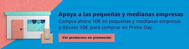 10€ gratis en Prime Day comprando en Pymes
