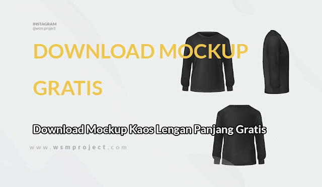 Download Mockup Kaos Lengan Panjang