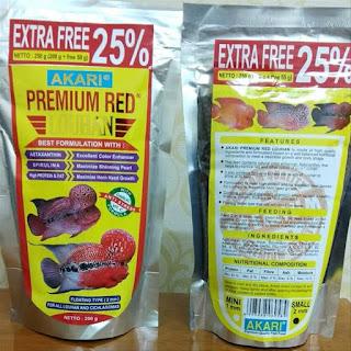 Pelet Akari Premium Red Louhan