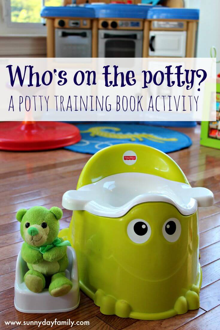 Make potty training toddlers fun with this activity based on one of our favorite potty training books!
