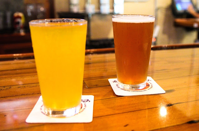 drinks at the Waterfront Brewery in Key West, Florida