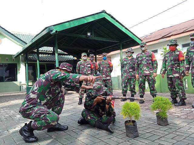 Minggu Militer, Koramil 01 Purbalingga Diisi Dengan Latihan Dasar Prajurit