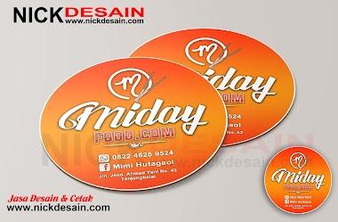 Contoh Desain Logo Stiker Label Dimsum Bulat Orange - Percetakan Tanjungbalai