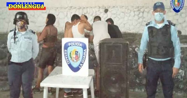 Policías acabaron con una Coronaparty en La Guaira e incautaron las cornetas
