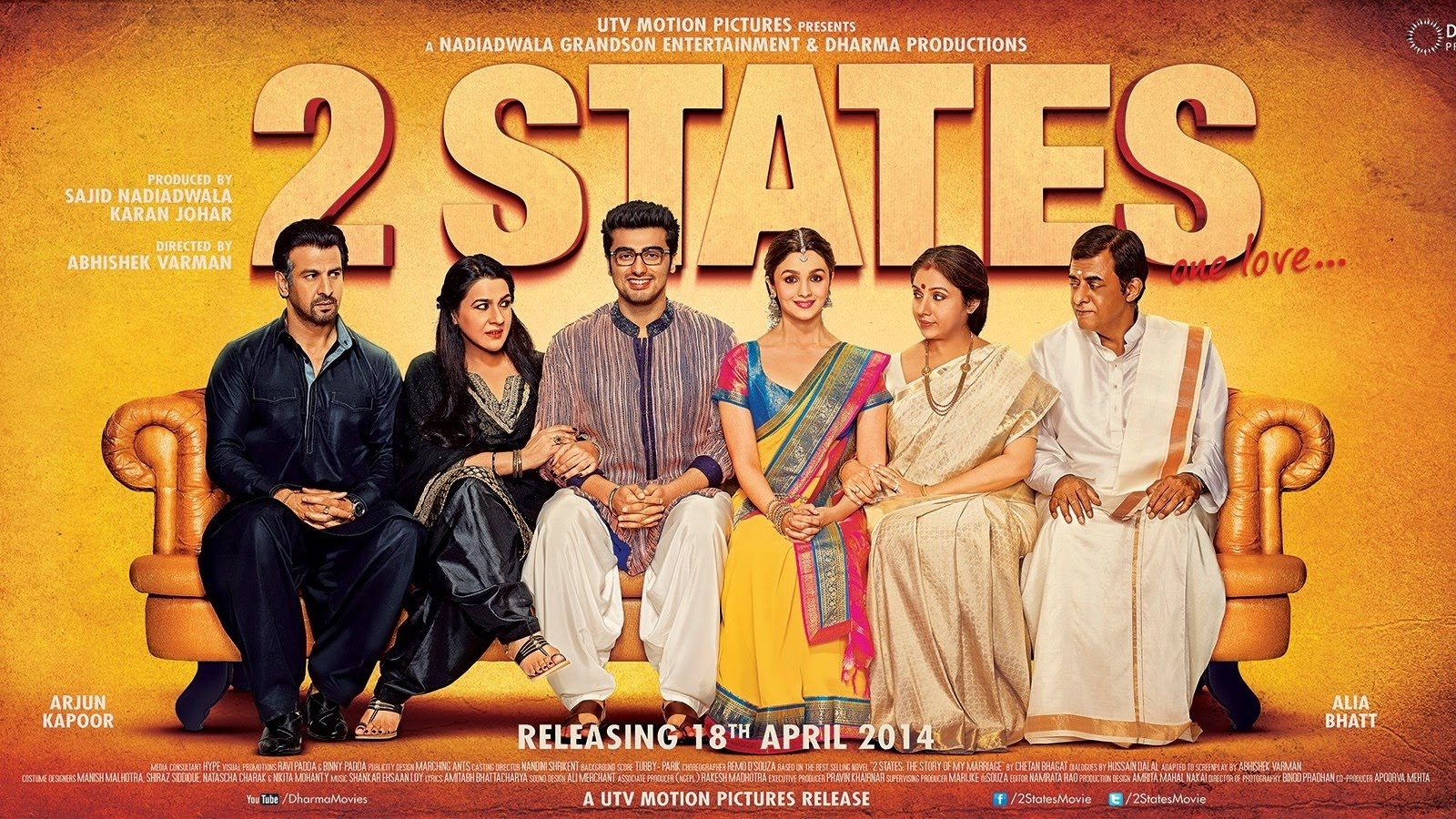 CHAANDANIYA SONG LYRICS - 2 STATES
