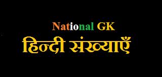 Sankhya(Hindi Numbers)हिन्दी संख्याएँ