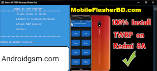 How To Download TWRP Flasher Tool for Redmi 8A (Auto Installer ONE Click) Unlock Tool Latest Update 2020 Free Password Download To AndroidGSM