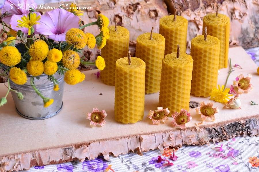 Detalles naturales para invitados bodas bautizos comuniones velas de miel