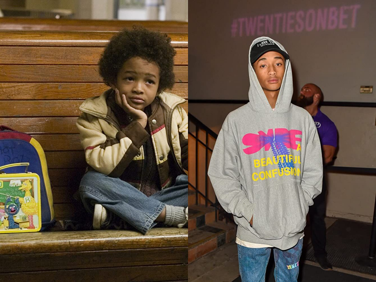 Jaden Smith in 2006 and 2020