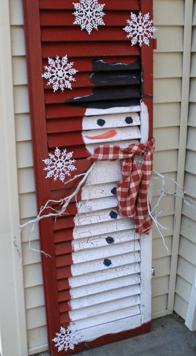 Diy snowman and santa from cedar fence posts crafts a la