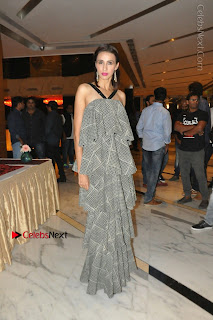 Indian Actress Model Alesia Raut Stills in Sleeveless Long Dress  0027.JPG