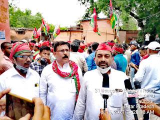 #JaunpurLive : सपा कार्यकर्ताओं ने बिगड़ती कानून व्यवस्था के विरोध में उपजिलाधिकारी को सौपा ज्ञापन