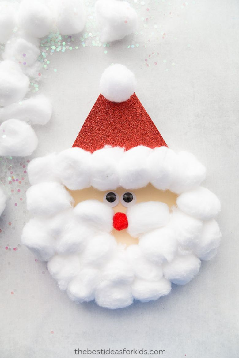 Easy Santa craft for toddlers and preschoolers