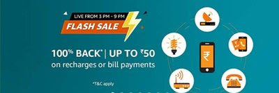 Amazon Pay Recharge Offer - Get 100% Cashback On Prepaid Recharge
