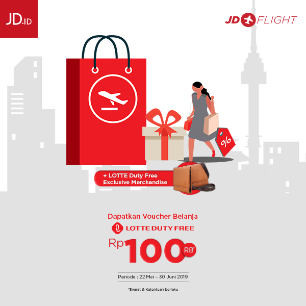 #JDID - #Promo Free Voucher & Leather Travel Wallet Untuk Pembelian JD FLight (s.d 30 Juni 2019)