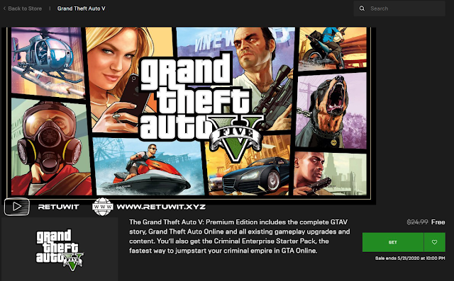 Cara Download Game GTA V Premium Gratis Epic Games Store