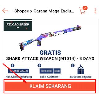 Cara Mendapatkan Skin M1014 Shark Gratis dari Shoppe