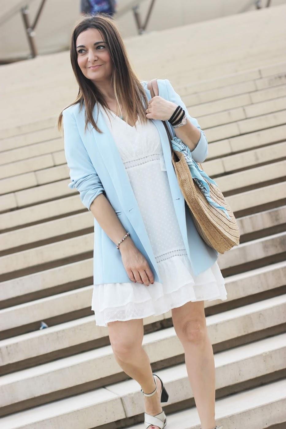 96128c98e El blog de Renée  Como combinar un vestido blanco de topitos