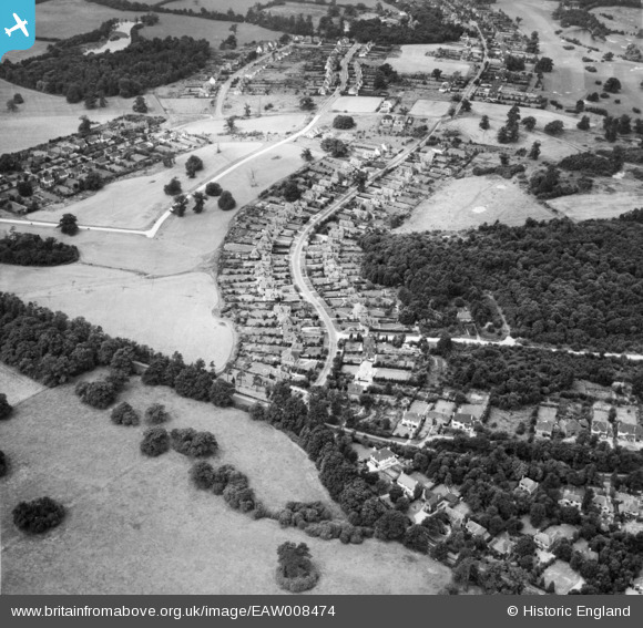 Aerial photograph of George's Wood Road, Brookmans Park, 1947