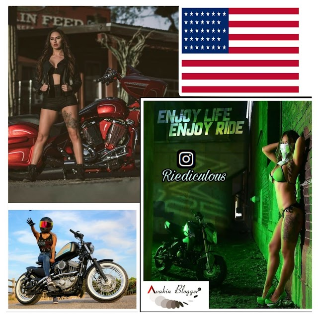 USA Bike Riders Model || Stunt women