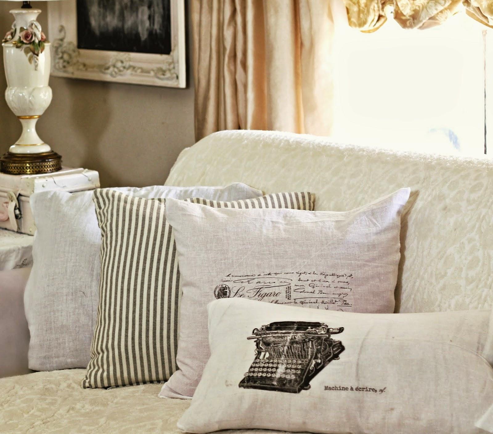 Shabby Sweet Cottage: Dollar Store Flour Sack Pillows