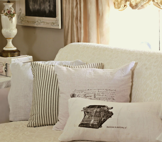 Shabby Sweet Cottage Dollar Store Flour Sack Pillows