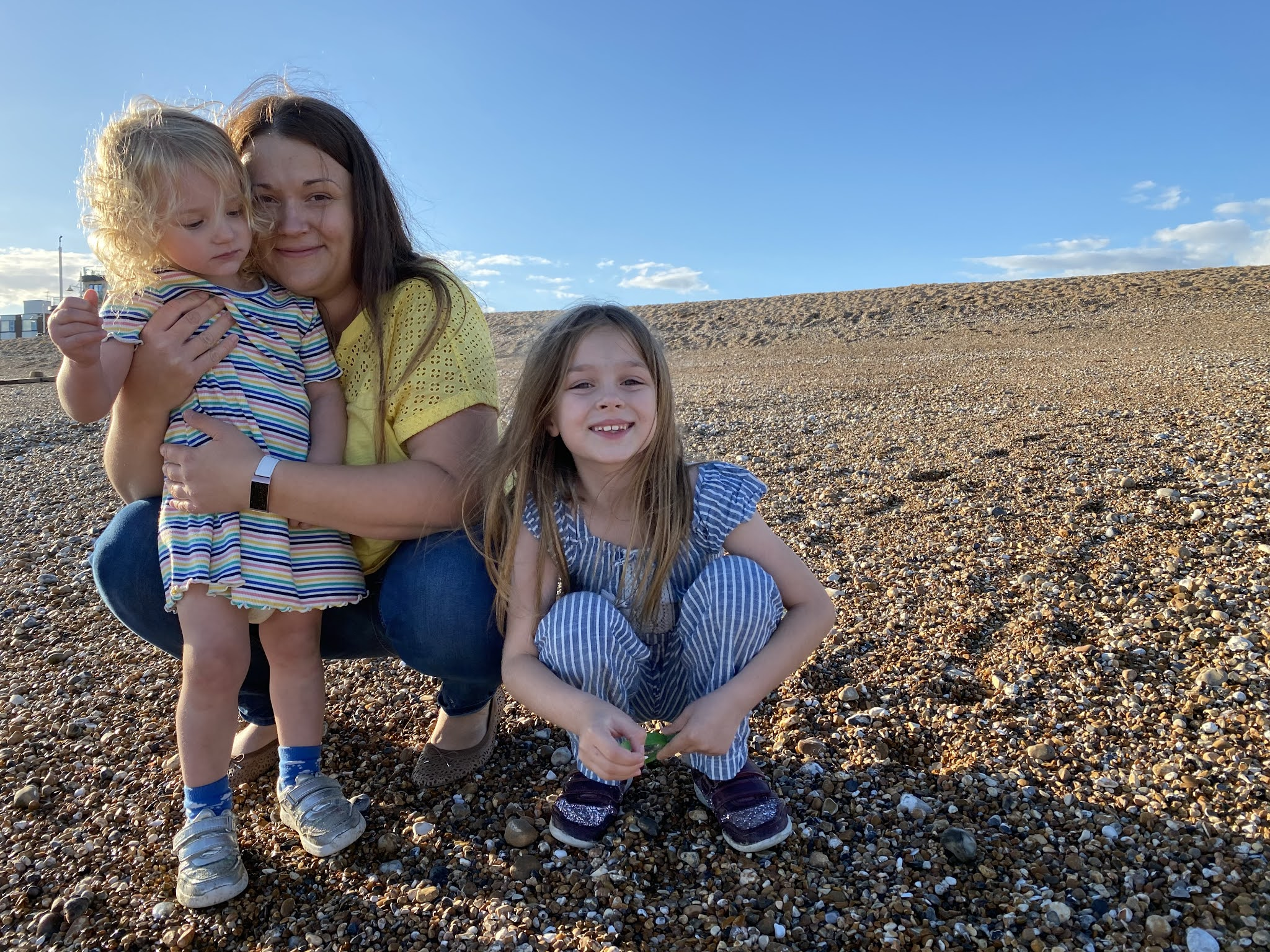 family at bognor regis beach