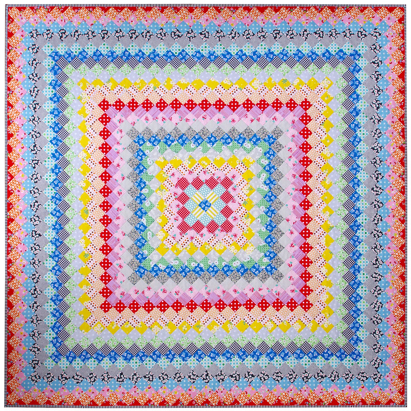 A Hand Pieced Trip Around the World Quilt   © Red Pepper Quilts 2020