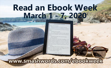 Read an Ebook Week - E-reader on beach