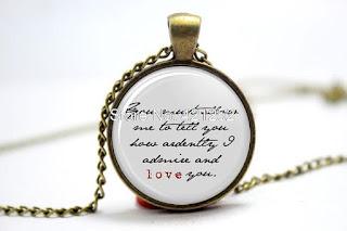 Bijuterias Quotes de Jane Austen, onde comprar. onde comprar Bijuterias Quotes de Jane Austen
