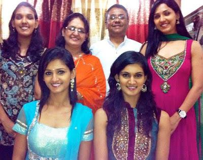 Neeti Mohan Family