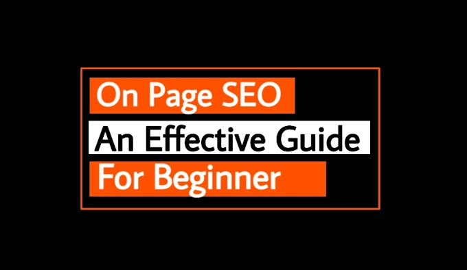 On Page SEO : An Effective Guide For The Beginner