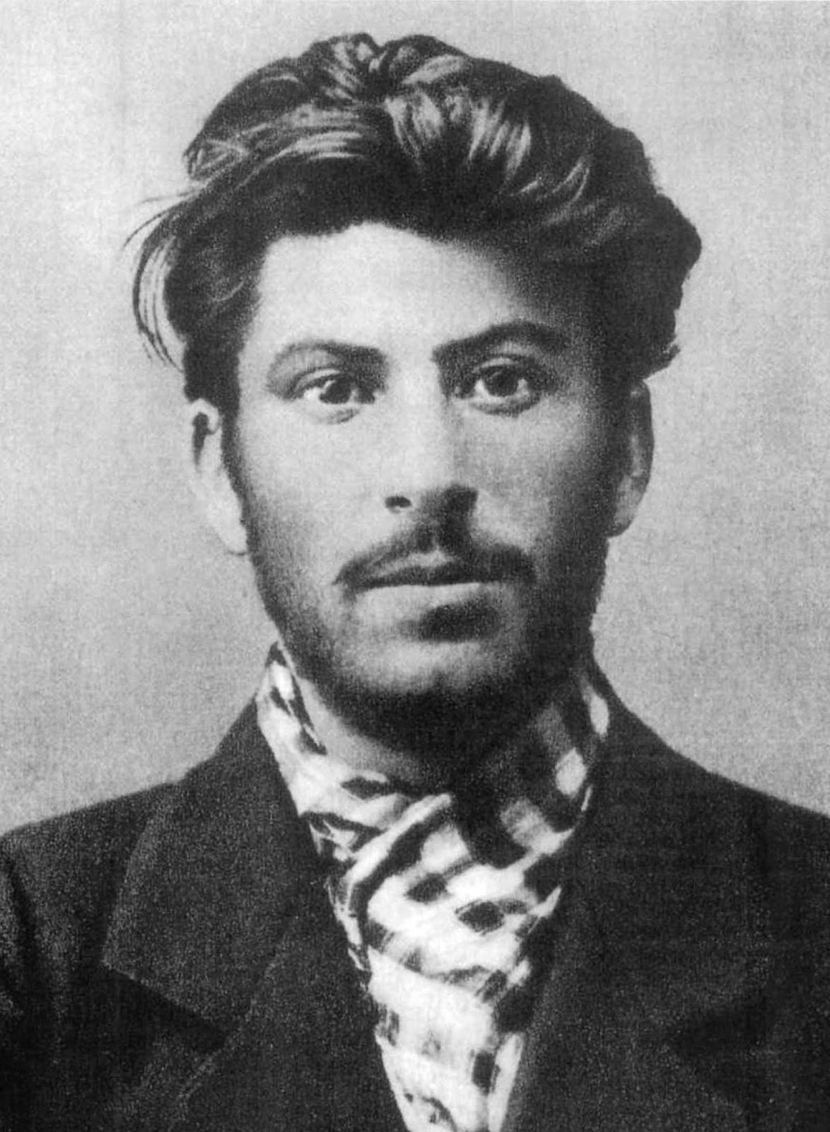 Stalin: handsome as a devil at 23 years old with tousled hair and short beard