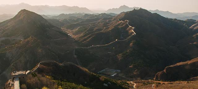 Coucher de soleil sur la Grande Muraille de Chine
