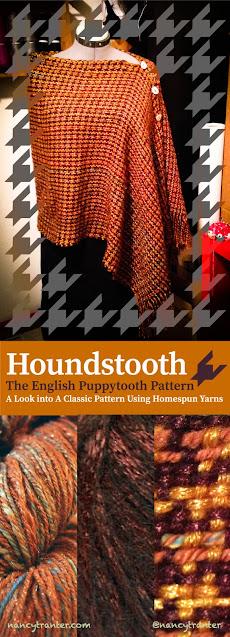 nancy tranter copper houndstooth shawl
