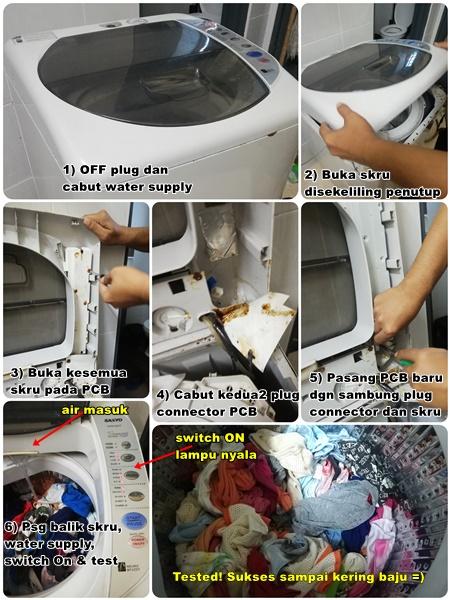Baiki Mesin Basuh Tak Sampai RM100