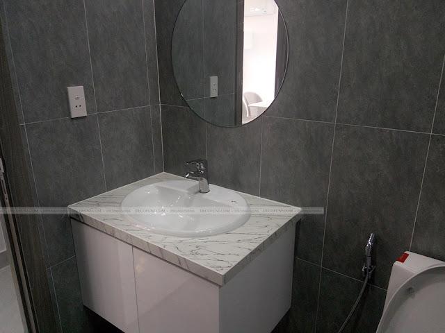 Hình thực tế thiết kế và thi công xây dựng thô đến hoàn thiện full nội thất căn hộ chung cư Saigon South Residences Phú Mỹ Hưng - SSR - Toilet chung