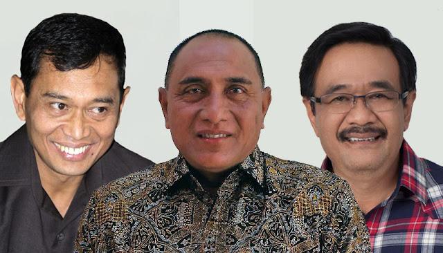 Calon Gubernur Sumut Jr Saragih, Edy, dan Djarot.